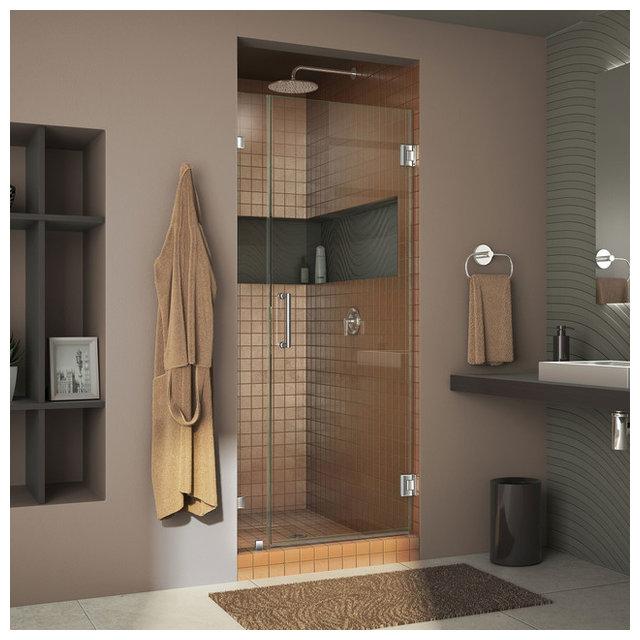 DreamLine Unidoor Lux Hinged Shower Door, Chrome, 36\