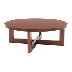 Regency Chloe Round Veneer Coffee Table in Cherry