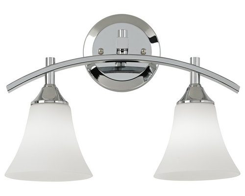 possini euro design curve collection 14 34 wide chrome bathroom light