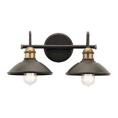 "Kichler 45944 Clyde 2 Light 17""W Bathroom Vanity Light - Bronze"