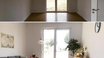 Vorher / Nachher Musterwohnungen