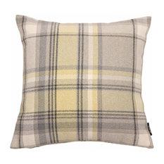McAlister Textiles Heritage Tartan Cushion Cover, Mimosa Yellow, 60cm