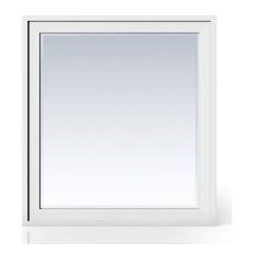 """Addison 36"""" Rectangular Mirror, Glossy White"""