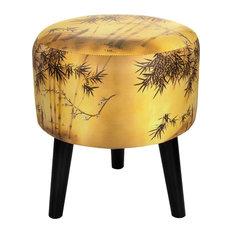 Gold Bamboo Stool