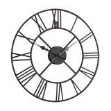 Rustic Black Skeleton Wall Clock with Roman Numerals 40cm x 40cm