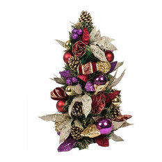 Spiced Wine Christmas Room Decoration Collection, Table Top Tree