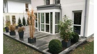 Gartenterrassen Erweiterung und Umgestaltung