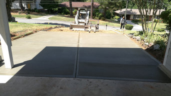 Driveway and sidewalk replacement with custom brick inlay