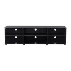CorLiving Fiji Ravenwood Black TV Bench - For TVs Up To 80-inch