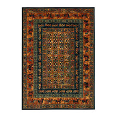 """Couristan Old World Classics Pazyrk Area Rug, Burnished Rust, 7'10"""" x 11'2"""""""