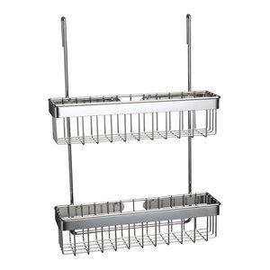 Metro Chrome 2-Tier Spice Rack for Utensil Rails