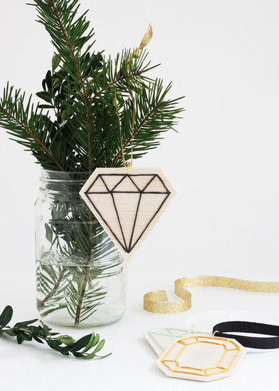 DIY Faceted Gemstone Ornaments