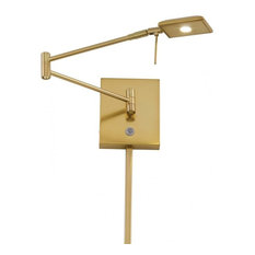 George Kovacs Reading Room 1-Light LED Swing Arm Wall Lamp P4328-248, Honey Gold