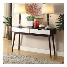 Exceptionnel Acme Furniture   ACME Christa Console Table, Walnut And White   Console  Tables