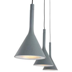 Cornucopia Pendant Lamp, Grey, 3 Lights