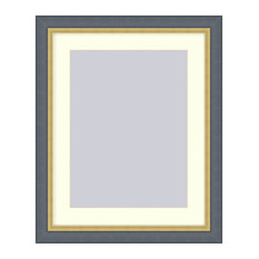 Black picture frame with Gold Lip, Black, 8x10