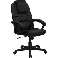 Durable Back Black Leather Executive Swivel Office Chair