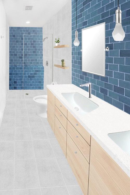 Heath Tile Bathroom -wood or not?