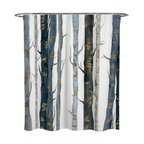 """Oliver Gal OliverGal """"Behind the Woods"""" Shower Curtain, 71""""x74"""""""