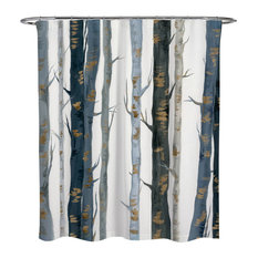 OliverGal Behind The Woods Shower Curtain