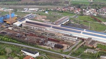 Hallenstrahler LED- Beleuchtung Stahlwerk Thüringen
