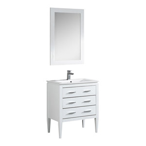 """Fine Fixtures Ironwood Collection Vanity, White Matte, 24"""""""