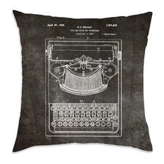 """Oliver Gal """"Brandt, Type Bak Guide for Typewriters, 1926"""" Pillow, 18""""x18"""""""