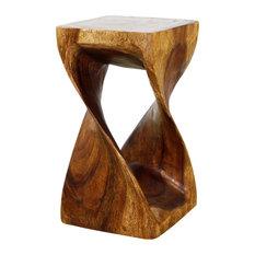 Haussmann® Original Wood Twist Stool 10 X 10 X 18 In High Walnut Oil