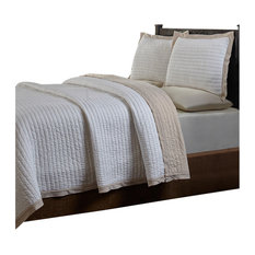Lam, Taupe, Quilt Set , King
