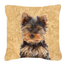 Yorkie Puppy/Yorkshire Terrier Canvas Fabric Decorative Pillow
