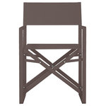Pangea Home - Sunset Directors Chairs, Set of 2, Espresso - That perfect chair for that perfect sporting event, balcony, beach day, back yard spot. You will love these director chairs for the portability, comfort and durability. Made from an all aluminum frame makes these chairs rust proof. Chairs can fold for easy storage