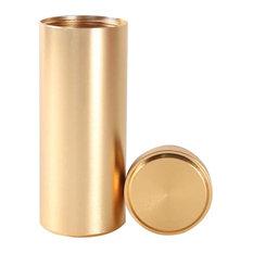 "Titanium Alloy Container Coffee Tea Canister 1.8""x4.6"", 03"