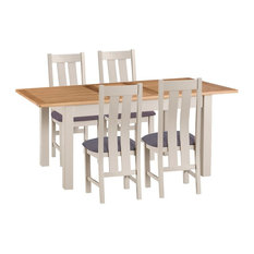Portland Extending Dining Table and 4-Chair Set