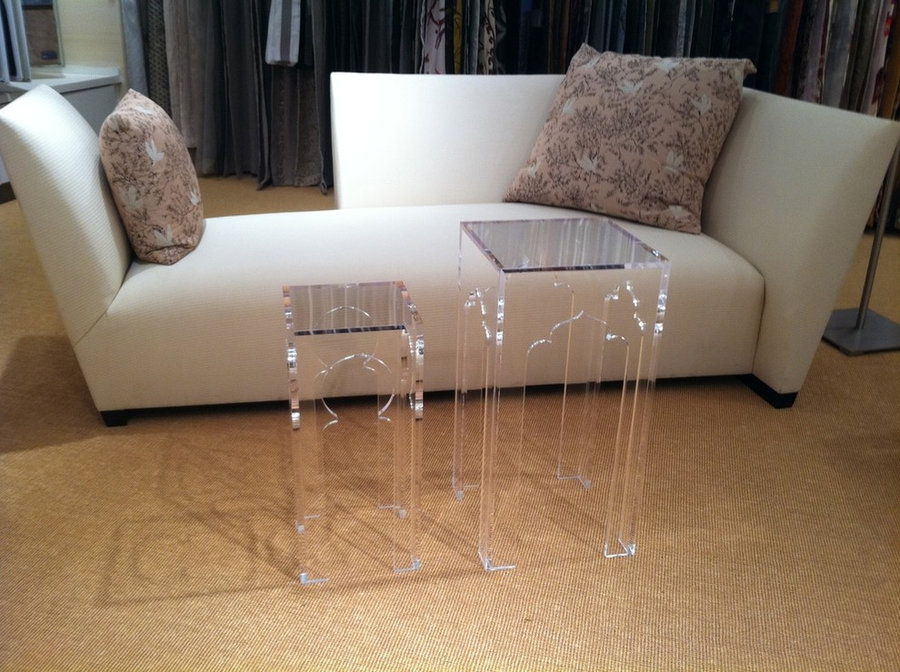 Lucite Tables and Donghia Couch