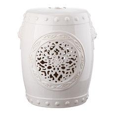 Safavieh Flower Drum Garden Stool, Cream