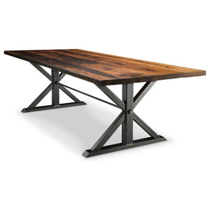 Jackson Double Pedestal Reclaimed Wood Dining Table, 42x72