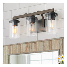 3-Light Vintage Bathroom Vanity Lights