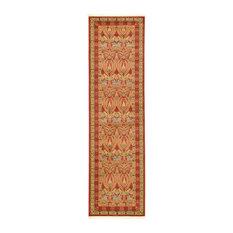 "Traditional Stirling 2'7""x10' Runner Brick Area Rug"