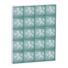 "Green Satin Wave Window, 30""x37.5"""