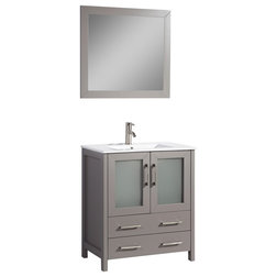 Fabulous Transitional Bathroom Vanities And Sink Consoles by Vanity Art LLC
