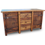 """FoxDen Decor - Old World Vanity With Old Hinges, 60""""x20""""x32"""" - *Please Note*"""