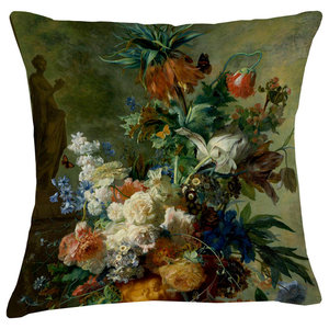 Velvet Tableau Cushion, Persian Lily