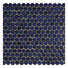 Cobalt Blue, Penny, Porcelain Pool Tile