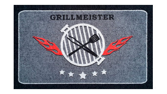 """Clean Keeper """"Grillmeister"""" Doormat, Square, Small"""