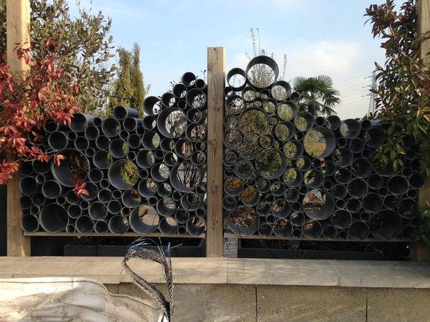 20 palissades originales pour garder votre jardin secret - Claustra design pour terrasse ...