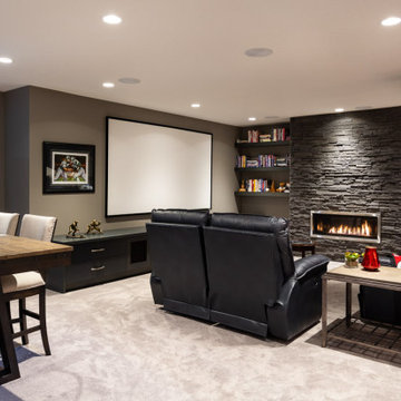 Sports Themed Man Cave