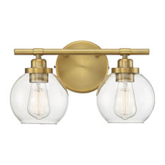 Savoy House Carson 2-Light Bathroom Vanity Light in Warm Brass