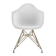 Mid Century Eiffel Arm Chair Glacier White