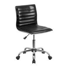 flash furniture soros ribbed task chair black office chairs
