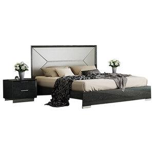 Monte Leone 3-Piece Bedroom Set, Dark Gray, Queen